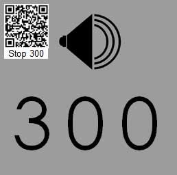 Audio Tour Number Sign 300