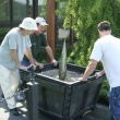 Greenhouse staff moving the Titan.7/3/08