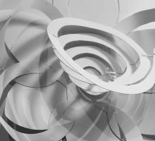 spiraling paper model of a daffodil flower