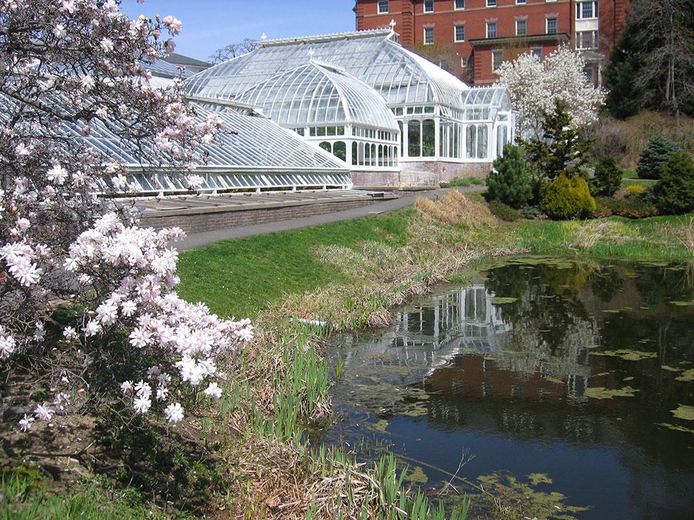 Lyman Conservatory with pond