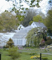 Lyman Conservatory in spring
