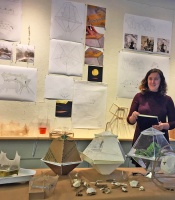 architecture student presenting her work