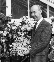 William Campbell with chrysanthemums