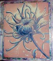 Chrysanthemum flower lithograph