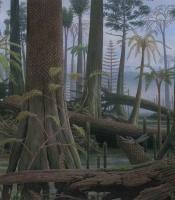 panel 5 of the evolution mural