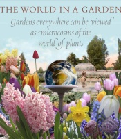 The world in a garden, with flower images