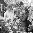Karen Palmquist '70, Rachel Rikert '69, and Carol Anne White '68 at the 1967 Chrysanthemum Show