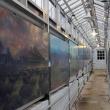 mural panels along corridor