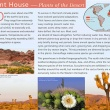 Interpretive sign about deserts