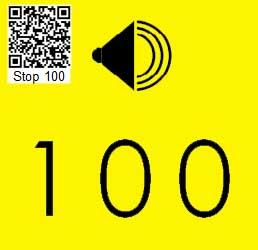 Audio Tour Number Sign 100