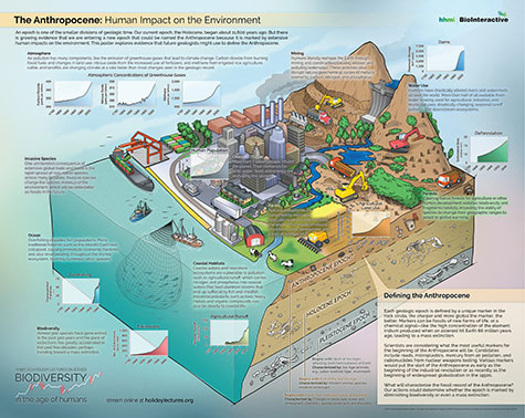 Poster on current epoch and human impact on the environment