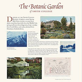 The Botanic Garden of Smith College general information panel