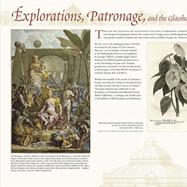 Explorations, Patronage and the Glasshouse information panel