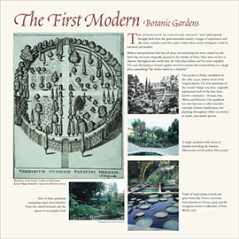 The First Modern Botanic gardens information panel