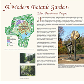 A Modern Botanic Garden information panel