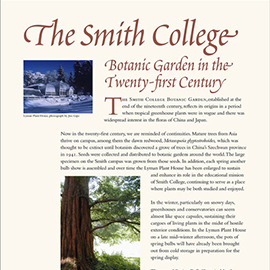 The Smith College Botanic Garden in the Twenty-first Century information panel