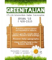 Poster announcing the Green Italian Class