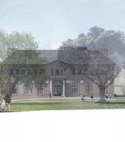 East view of the planned renovation of Neilson Library
