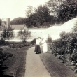View of path towards the Conservatory with the Rock Garden on the Right and the Systematics Garden on the left