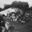 Rock garden with big boulders