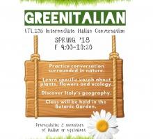 Poster announcing the Green Italian Class